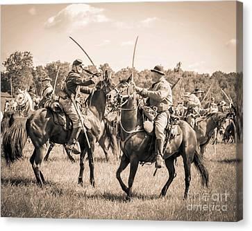 Gettysburg Cavalry Battle 7978s  Canvas Print