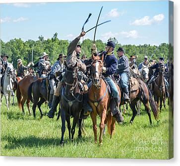 Gettysburg Cavalry Battle 7992c  Canvas Print