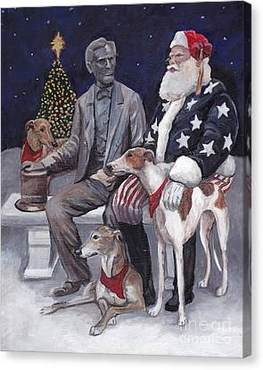 Gettysburg Christmas Canvas Print by Charlotte Yealey