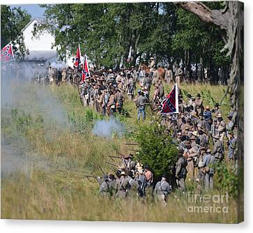 Gettysburg Confederate Infantry 8825c Canvas Print