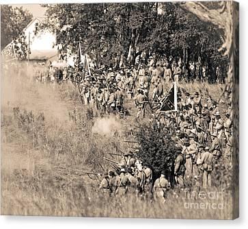 Gettysburg Confederate Infantry 8825s Canvas Print