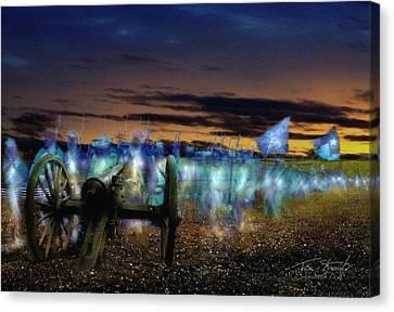Lincoln Canvas Print - Gettysburg Confederates by Tom Straub