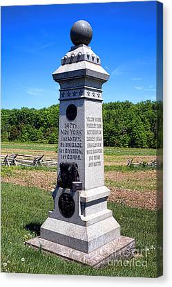 Gettysburg National Park 147th New York Infantry Memorial Canvas Print by Olivier Le Queinec