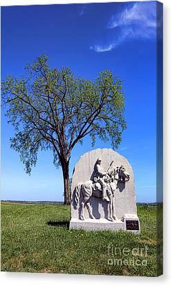 Gettysburg National Park 17th Pennsylvania Cavalry Memorial Canvas Print by Olivier Le Queinec