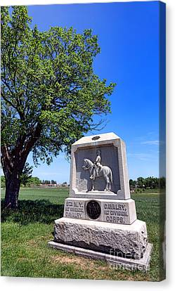 Gettysburg National Park 8th New York Cavalry Memorial Canvas Print by Olivier Le Queinec