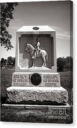 Confederate Monument Canvas Print - Gettysburg National Park 8th New York Cavalry Monument by Olivier Le Queinec