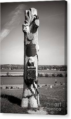 Confederate Monument Canvas Print - Gettysburg National Park 90th Pennsylvania Infantry Monument by Olivier Le Queinec