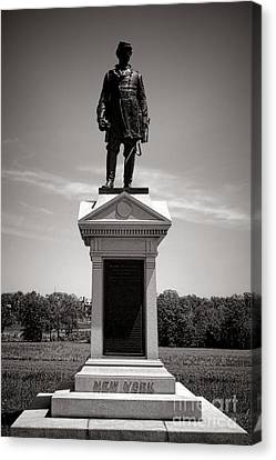 Gettysburg National Park Abner Doubleday Monument Canvas Print by Olivier Le Queinec