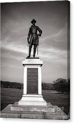 Confederate Monument Canvas Print - Gettysburg National Park Brigadier General Alexander Webb Monument by Olivier Le Queinec