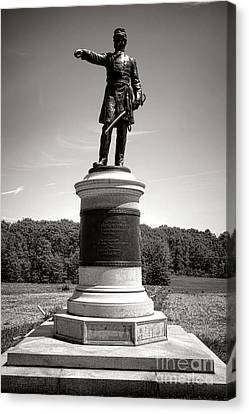 Confederate Monument Canvas Print - Gettysburg National Park James Samuel Wadsworth Monument by Olivier Le Queinec