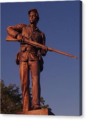 Gettysburg Statue Canvas Print by Eric  Schiabor