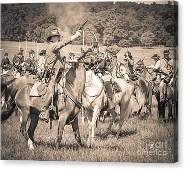 Gettysburg  Union Cavalry 7920s  Canvas Print