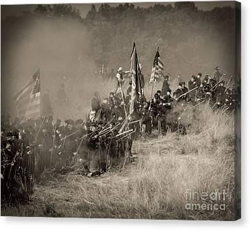 Gettysburg Union Infantry 8947s Canvas Print