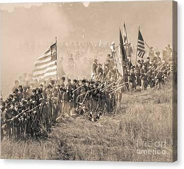 Gettysburg Union Infantry 8948s Canvas Print