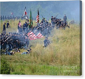 Gettysburg Union Infantry 8963c Canvas Print