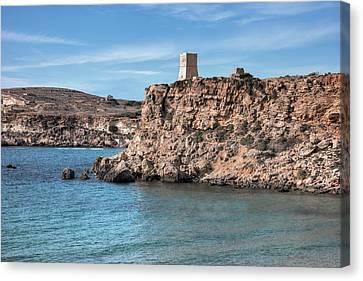 Sea Watch Canvas Print - Ghajn Tuffieha Bay - Malta by Joana Kruse
