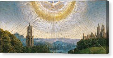 Ghent Altarpiece Detail Of The Holy Spirit Canvas Print by Van Eyck