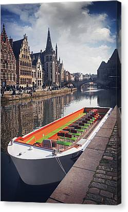 Ghent By Boat Canvas Print by Carol Japp