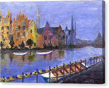 Canvas Print featuring the painting Ghent by Jamie Frier