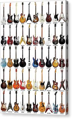 Guitar Legends Canvas Print