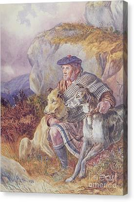 Ghillie And Deerhounds Canvas Print by Richard Ansdell