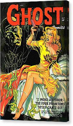 Haunted House Canvas Print - Ghost 2nd Issue 1952 Vintage by Ian Gledhill