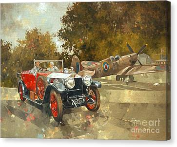 Ghost And Spitfire  Canvas Print by Peter Miller