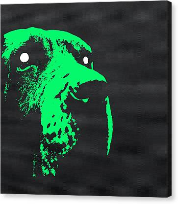 Ghost Dog Canvas Print by Edouard Coleman