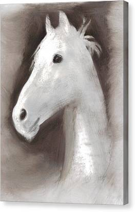 Canvas Print featuring the painting Ghost Horse by FeatherStone Studio Julie A Miller