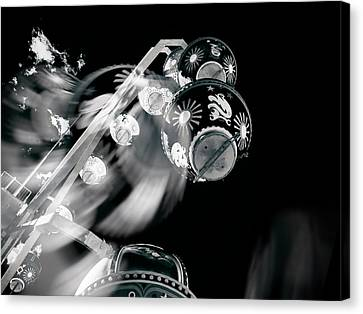 Canvas Print featuring the photograph Ghost In The Machine by Wayne Sherriff