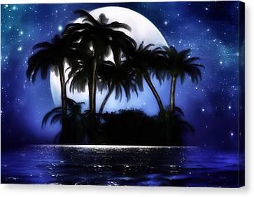 Shadow Island Canvas Print by Gabriella Weninger - David