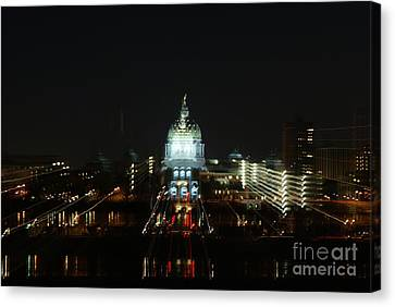 Ghost Lights Of Pa State Capital   # Canvas Print
