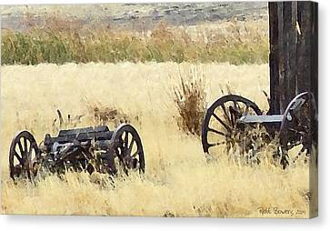 Ghost Of The Oregon Trail Canvas Print by Everett Bowers