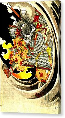 Ghost Of Warrior Tomomori 1880 Canvas Print by Padre Art