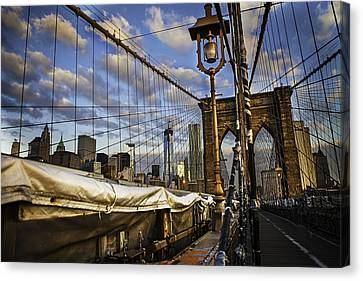 Ghost On The Bridge Canvas Print