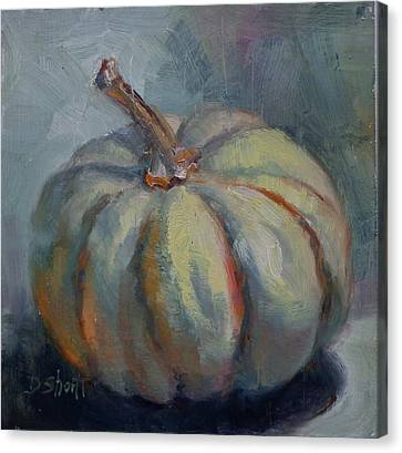 Canvas Print - Ghost Pumpkin by Donna Shortt