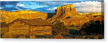 Ghost Ranch At Sunset, Abiquiu, New Canvas Print by Panoramic Images