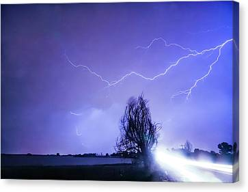 Canvas Print featuring the photograph Ghost Rider by James BO Insogna