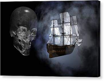 Ghost Ship Canvas Print by Claude McCoy