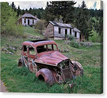 Ghost Town Canvas Print by Leland D Howard