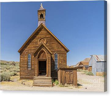 Ghost Town Of Bodie California Methodist Church Dsc4473 Canvas Print by Wingsdomain Art and Photography