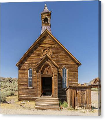 Ghost Town Of Bodie California Methodist Church Dsc4473sq Canvas Print by Wingsdomain Art and Photography
