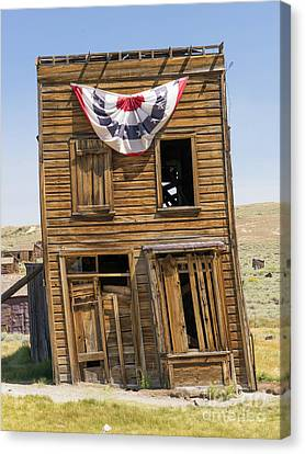 Ghost Town Of Bodie California Swasey Hotel Dsc4371 Canvas Print