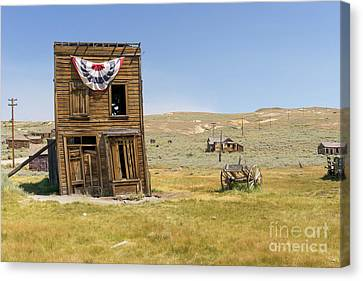 Ghost Town Of Bodie California Swasey Hotel Dsc4374 Canvas Print