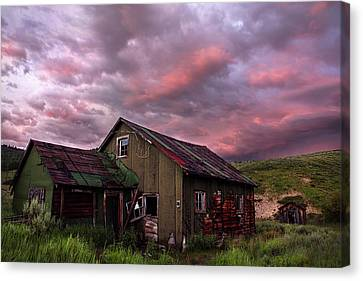 Ghost Town Sunset 1 Canvas Print