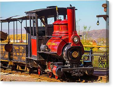 Ghost Town Train Canvas Print by Garry Gay