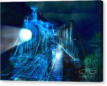 Ghost Train Bridge Canvas Print by Tom Straub