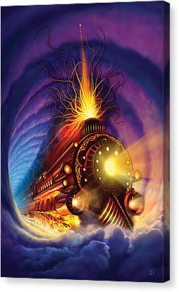 Ghost Train Canvas Print by Philip Straub