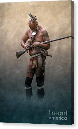 French And Indian War Canvas Print - Ghost Warrior  by Randy Steele