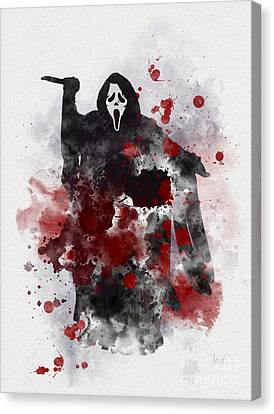 Ghostface Canvas Print by Rebecca Jenkins